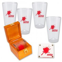 Dexter Pint Beer Drinking Glasses