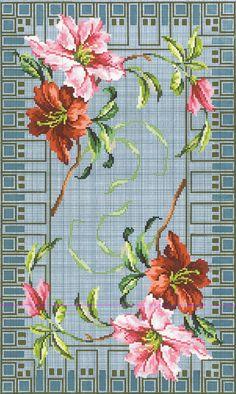 Cross Stitch Borders, Cross Stitch Rose, Cross Stitch Flowers, Cross Stitch Charts, Cross Stitch Embroidery, Hand Embroidery, Cross Stitch Patterns, Embroidery Patterns Free, Embroidery Designs