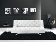 DIVANI LETTO DIVANI TESSUTO DIVANO LETTO RECLINABILE MICROFIBRA BIANCO - C&G Home design