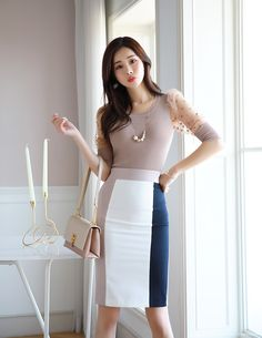 Korean Women`s Fashion Shopping Mall, Styleonme. Korean Fashion Winter, Korean Fashion Dress, Korean Street Fashion, Korean Outfits, Fashion Dresses, Girl Fashion, Womens Fashion, Fashion Design, Beautiful Asian Women