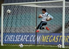 Chelsea's striker Diego Costa kicks a ball during a football training session in Sydney on June 1, 2015. The English Premier League champions take on local team Sydney FC in a friendly exhibition match on June 2.