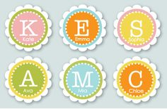 2 Inch Custom Labels You Choose Colors and Text by Paperjacks, $7.99