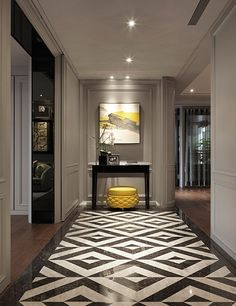 From marble slabs to mosaic patterns, discover the top 50 best entryway tile ideas. Explore rustic to modern foyer flooring design inspiration. Classic Decor, Modern Classic Interior, Foyer Design, House Design, Planchers En Chevrons, Art Deco, Interior Decorating, Interior Design, Interior Styling