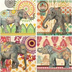 Caravan Elephants Wall Art - BedBathandBeyond.com - $19.99 each