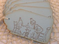 Winnie the Pooh Birthday Party Gift and Favor Tags Set of 6. $4.50, via Etsy.