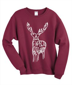 Expecto Patronum Sweatshirt Harry Potter Fan Jumper Tumblr Clothing Pinterest…