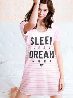 I like mine a lot, just wish it was a little longer (tall girl problems lol) The Angel Sleep Tee by Victoria's Secret Cozy Pajamas, Pjs, Pyjamas, Night Suit, Night Gown, Satin Pyjama Set, Pajama Set, Womens Fashion Online, Latest Fashion For Women