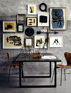 Amazing art wall - photos from Fritz Hansen. Frame Collage!