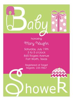You were chosen to throw the perfect baby shower. The first thing you need is custom printed baby shower invitations. Choose these Pink Baby Shower Present Invitations for girls and be the best hostess ever. You don't even have to host a baby shower more than once to be a legend. You can just order these custom invites from Polka Dot Design online and then worry about what games to play at the baby shower.