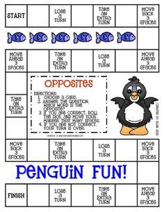 penguin themes opposites game