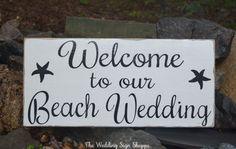 Beach Wedding Sign Large Directional Wood Signs Welcome Wedding Decor Nautical Sea Side Ocean Weddings Arrows Direction Outdoor Wooden Stake Destination Weddings Hand Painted Wooden Plaque