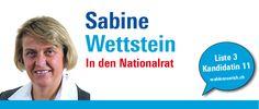 """""""Bildung ist Zukunft. Ich engagiere mich für starke Schulen und exzellente Forschung."""" http://sabinewettstein.wahlenzuerich.ch"""