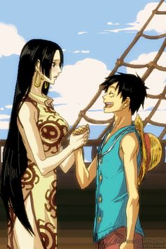 Monkey D. Luffy & Boa Hancock - One Piece,Anime