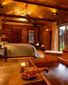 Ambiance~  If you long for  a rustic yet romantic get away, this cabin is perfect for you~(Shown: Dunton Hot Springs, San Juan Mountains, Colorado)~  (Photo Credit: marthastewart.com)  (410) 819-0046  www.maryannjudy.com