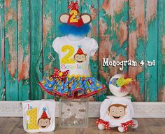 Hey, I found this really awesome Etsy listing at https://www.etsy.com/listing/233049129/girls-curious-george-birthday-outfit-set