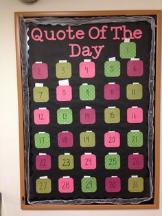 Quote of the Day, Passive bulletin board