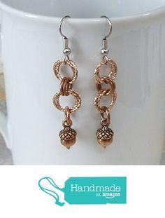 Copper Acorn Earrings from Dolphin Moon Creations https://www.amazon.com/dp/B015VQQ7KY/ref=hnd_sw_r_pi_dp_iPL2zbD7C87TC #shoppinghandmadeatamazon #acornearrings #autumnjewelry