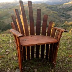 Queen Chair made from barrel staves.