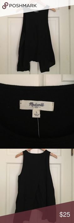 Madewell Black Split-Back Tank I have never worn this. New with Tags. Madewell Tops Tank Tops