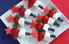 11 Barbecue-Friendly Snacks on a Stick #July4 #BBQ #recipes