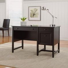 Sauder Edge Water Desk, Estate Black