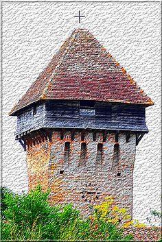 Hontanx - Landes - Hourdage et Mâchicoulis de la tour-porte. Quelle curieuse église !