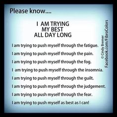 Any chronic illness,or invisible disabilities etc.Anxiety,CFS/ME,Fibromyalgia,Lupus,Chronic pain,morbid obesity, caused by an eating disorder or not,learning disabilities,cognitive disabilities,any invisible illness, or any other type of challenge,like fu