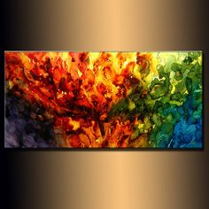 Original Abstract painting Contemporary by newwaveartgallery, $350.00