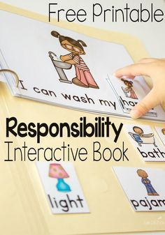 These FREE leveled interactive books are amazing! Teach responsibility for preschoolers with these engaging books. Learning Activities, Preschool Activities, Montessori, Social Emotional Development, Preschool Printables, Character Education, Preschool Learning, Preschool Kindergarten, Interactive Books