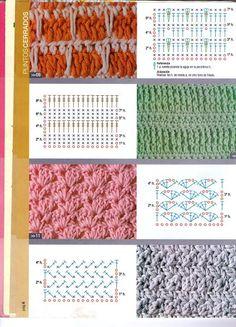 Resultado de imagen para puntos a crochet