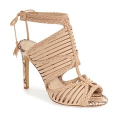 kabira strappy sandal by Vince Camuto. Laser-cut straps framed by sinuous braiding embrace the toe and instep of this Grecian-inspired s...