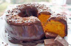 Bolo de Cenoura com ganache de Chocolate | Receitas e Temperos