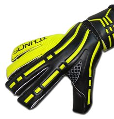 Ichnos Arcos Black Lime Green Adult Football Goalkeeper Gloves with fi – ICHNOS SPORTS