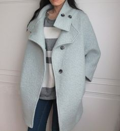 Bouclé wool cocoon coat Other colours available by Metaformose Mode Ootd, Mode Mantel, Winter Wardrobe, Winter Coat, Coats For Women, Autumn Winter Fashion, Korean Fashion, Winter Outfits, Fashion Outfits