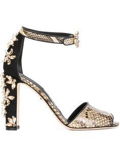 7d52e210e6f787 Dolce  amp  Gabbana Embellished Pump Shoes - Benesch - Farfetch.com High  Heel Pumps