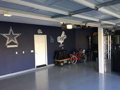 Diy Dallas Cowboys Garage Garage Dallas Cowboys Room