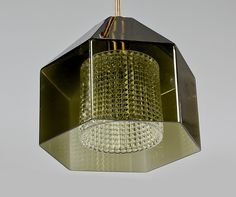 """Ceiling lamp, """"RD 1624"""", Carl Fagerlund, Orrefors."""