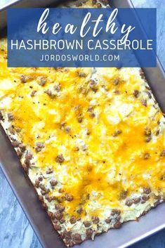 Say good morning to the healthy cheesy hashbrown casserole recipe that is so easy you could accidentally make it! Hashbrown Casserole Recipe, Hash Brown Casserole, Casserole Dishes, Casserole Recipes, High Protein Recipes, Healthy Breakfast Recipes, Brunch Recipes, Easy Meal Prep, Easy Meals
