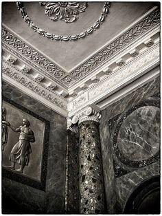 Søjle og marmor-intarsia ... Attingham Park