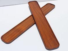 2 Vintage Danish Modern Digsmead Teak Wood Serving by Modnique, $59.99