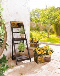 """Holz-Regal """"Sun-Flower"""""""