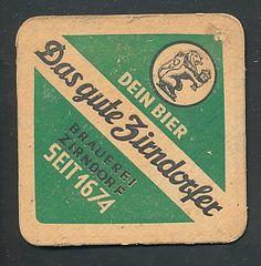 back side: Bierdeckel AK Zirndorfer, Gegr. 1674, Brauerei Zirndorf, Löwe