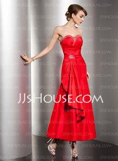 Holiday Dresses - $126.99 - A-Line/Princess Sweetheart Ankle-Length Taffeta Holiday Dress With Ruffle Beading (020032461) http://jjshouse.com/A-Line-Princess-Sweetheart-Ankle-Length-Taffeta-Holiday-Dress-With-Ruffle-Beading-020032461-g32461