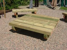 Outdoor Classroom Table--can also be used as an impromptu stage. I could see performances done by my fairy princesses!
