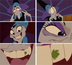 """Yzma--How long has THAT been there?! """"She's like the thing that wouldn't shut up."""" {this part always makes me laugh like hell xD }"""