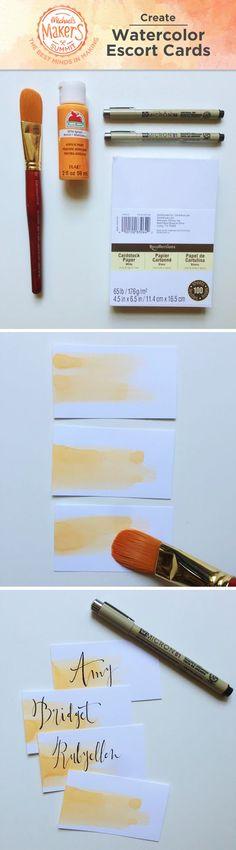 Varázsolj vízfestékkel! - DIY ültetőkártyák!
