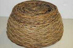 This old authentic basket from Sumbawa Island, Indonesia, was handwoven out of rattan (rotan, a climbing palm found in jungle forests). Beautiful interesting (hand woven) weave. Very hard to find old baskets in great condition like this one. cheetahdmr@aol.com asmatcollection on ebay