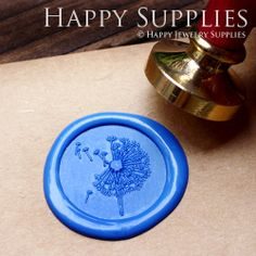 Buy 3 and Get 1 FREE - 1pcs Dandelion Gold Plated Wax Seal Stamp (WS126)