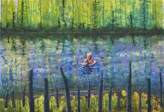 Gerhard Knell: Zwei BrŸder, 2012, 110 x 160 cm, Acryl auf Nessel