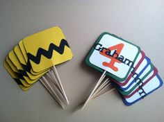 Charlie Brown Cupcake Toppers